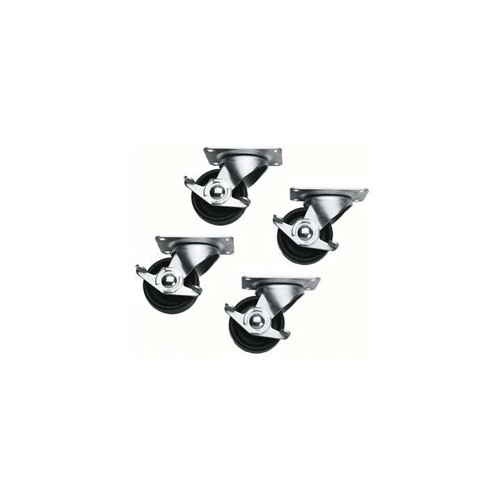 5WL MIDATL SET OF 4 CASTERS FOR ANY SLIM 5, (2 LOCKING) WITH MOUNTING HARDWARE