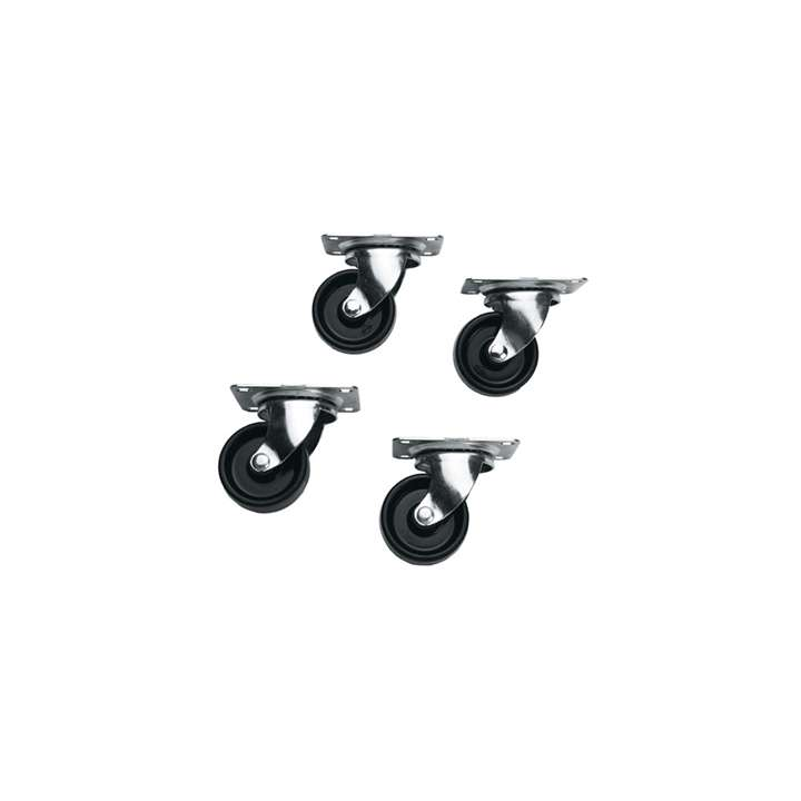 5W MIDATL SET OF 4 CASTERS FOR ANY SLIM 5, WITH MOUNTING HARDWARE ************************* SPECIAL ORDER ITEM NO RETURNS OR SUBJECT TO RESTOCK FEE *************************