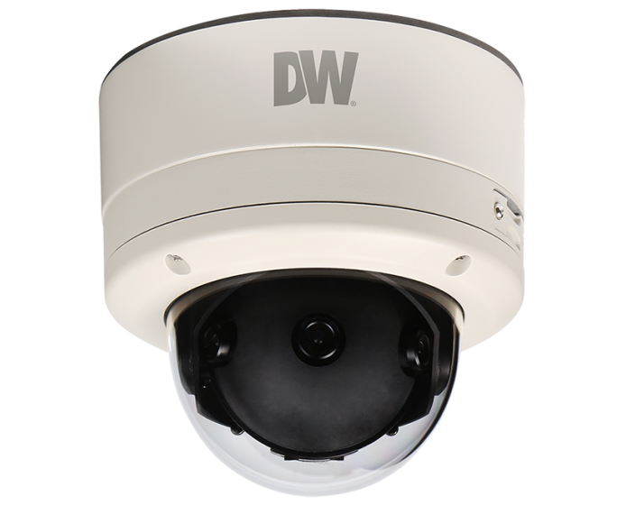 DWC-PV2M4T DIGITAL WATCHDOG MEGApix Panoramic 180-degree vandal dome camera, 3x 2.1 Megapixel Image Sensor (3x1080P, 30fps), 3x4.9mm Fixed Lens, 1080P 180-degree Panoramic Camera, Dual Codecs (H.264, MJPEG,) with Simultaneous , Easy Adjust external pan and tilt control, OnVIF Compliant Profile S, Web Server Built-in, Digital Zoom and Pan Control, 3D Digital Noise Reduction (DNR), True Day and Night/Mechanical IR Cut Filter, Auto Gain Control (AGC), Back Light Compensation (BLC), Auto White Balance (AWB), Motion Detection, 3x 4.9mm Fixed Lens, Micro SD/SDHC Class 10 Card Slot [card not included], Alarm Sensor Input, Relay Output, PoE and DC12V, IP66Certified (Weather Resistant), CleanView Hydrophobic Dome Coating Repels Water, Dust and Grease 5 year warranty. ************************* SPECIAL ORDER ITEM NO RETURNS OR SUBJECT TO RESTOCK FEE *************************