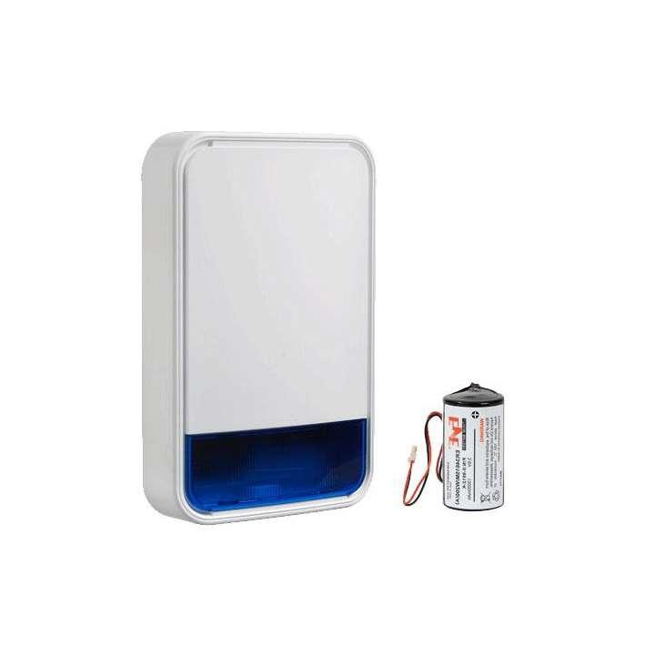 DSCPG9911B-BATT DSC WIRELESS POWER G OUTDOOR SIREN 915 MGZ BLUE LENS WITH BATTERY.