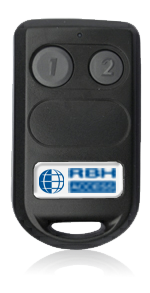 RBH-TR-2-A RBHUSA 2 button (2 Channel) 433MHz transmitter with built in RBH FR & FK series and AWID Compatible 125kHz ProxWafer; RBH 50bit Secure format (other formats available) ************************* SPECIAL ORDER ITEM NO RETURNS OR SUBJECT TO RESTOCK FEE *************************