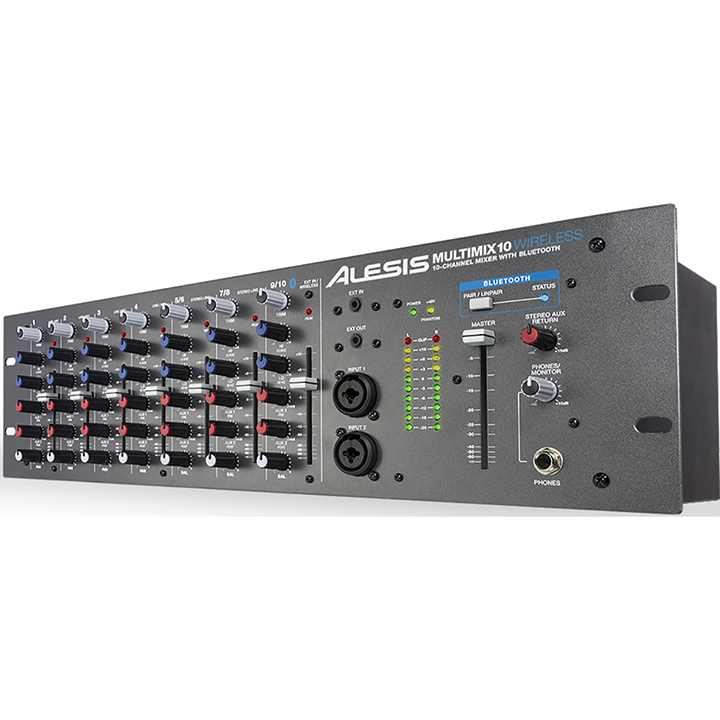 MM10WX110 ALESIS WIRELESS 10 CHANNEL RACKMOUNT MIXER WITH BLUETOOTH ************************* SPECIAL ORDER ITEM NO RETURNS OR SUBJECT TO RESTOCK FEE *************************
