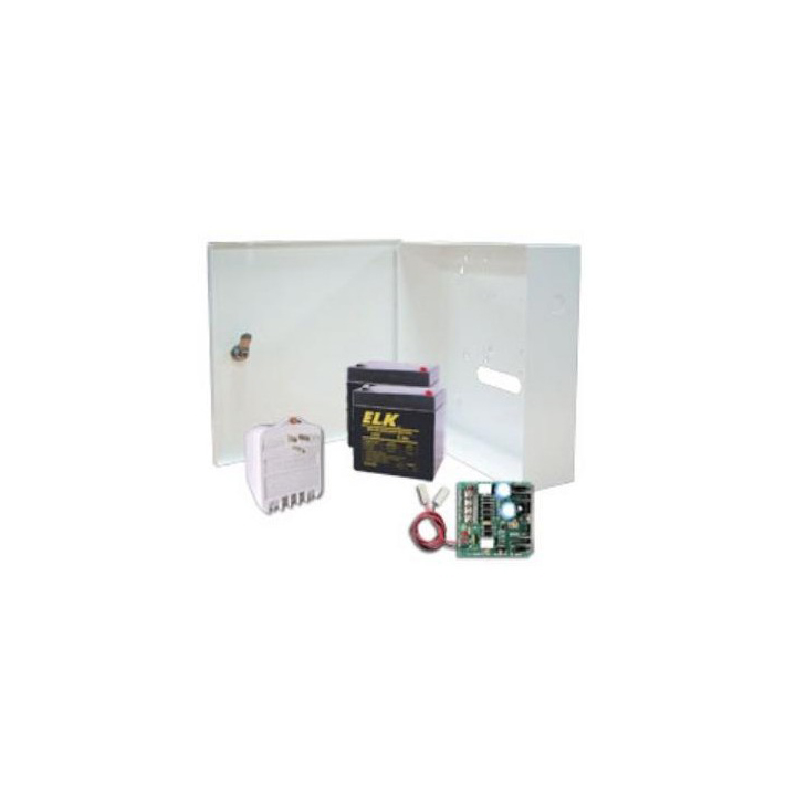P124K ELK P124 POWER SUPPLY WITH PLUG-IN TRANSFORMER IN ENCLOSURE WITH (2) 12V 5AH BATTERIES ************************* SPECIAL ORDER ITEM NO RETURNS OR SUBJECT TO RESTOCK FEE *************************