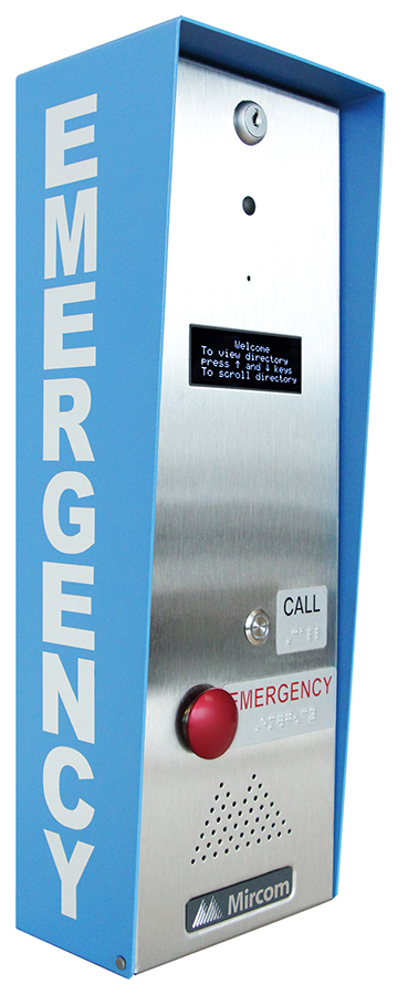 "TX3-EMER-1S-C Mircom Emergency Call Station; Braille labeled configurable ""Call"" and ""Emergency"" button for the visually impaired, Analog or PBX or VoIP for wider networking compatibility, Local or remote programming available ************************* SPECIAL ORDER ITEM NO RETURNS OR SUBJECT TO RESTOCK FEE *************************"