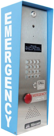 "TX3-EMER-200KS-C Mircom Emergency call Station with Keypad, Braille labeled configurable ""Call"" and ""Emergency"" button for the visually impaired, Flexible communication using Analog, VoIP or PBX with the capability to add 200 Extensions Storage, Programmable correlations of inputs and outputs allows for integration with CCTV, strobes and other devices ************************* SPECIAL ORDER ITEM NO RETURNS OR SUBJECT TO RESTOCK FEE *************************"