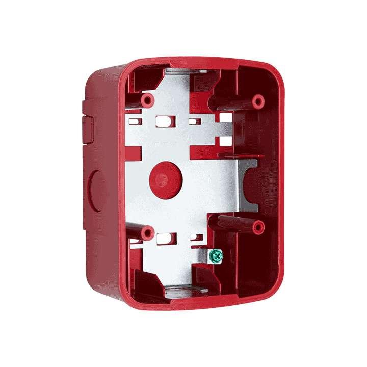 SBBSPRL SYSTEM SENSOR Wall Speaker Surface Mount Back Box, Red
