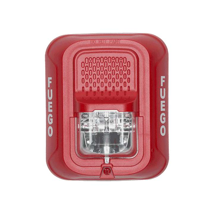 SRL-SP SYSTEM SENSOR STROBE RED WALL, FUEGO ************************* SPECIAL ORDER ITEM NO RETURNS OR SUBJECT TO RESTOCK FEE *************************