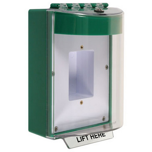 STI-13420NG STI STOPPER COVER SURFACE MOUNT WITH HORN - GREEN ************************* SPECIAL ORDER ITEM NO RETURNS OR SUBJECT TO RESTOCK FEE *************************
