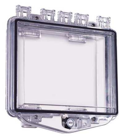 "STI-7510F STI POLYCARBONATE ENCLOSURE WITH EXTERIOR KEY LOCK AND BACKBOX - 8.3"" X 5.6"" X 2.8"" ************************* SPECIAL ORDER ITEM NO RETURNS OR SUBJECT TO RESTOCK FEE *************************"