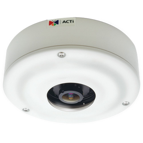 I73 ACTi 6MP Outdoor Hemispheric Dome with D/N, Advanced WDR, ELLS, ePTZ, Fisheye Lens, 180/360 Panorama View with Dewarped Streaming ************************* CLEARANCE ITEM-NO RETURNS *************************