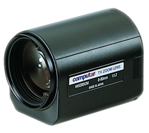 """H10Z0812M COMPUTAR 8-80MM F1.2 10X, 3 MOTORS MOTORIZED ZOOM, 1/2"""" FORMAT , C MOUNT ************************* SPECIAL ORDER ITEM NO RETURNS OR SUBJECT TO RESTOCK FEE *************************"""