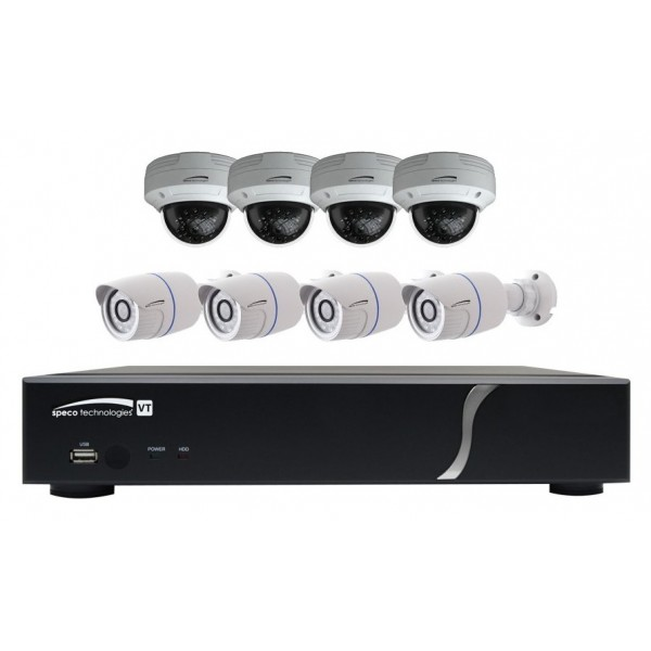ZIPT8BD2 SPECO 8CH HD-TVI DVR 2TB W/4 OD IR BULLETS AND 4 OD IR DOMES 3.6MM ************************* SPECIAL ORDER ITEM NO RETURNS OR SUBJECT TO RESTOCK FEE *************************