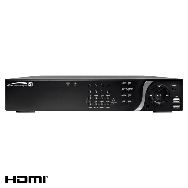 D16HT6TB SPECO 16CH TVI/IP HYBRID RECORDER 6TB ************************* SPECIAL ORDER ITEM NO RETURNS OR SUBJECT TO RESTOCK FEE *************************