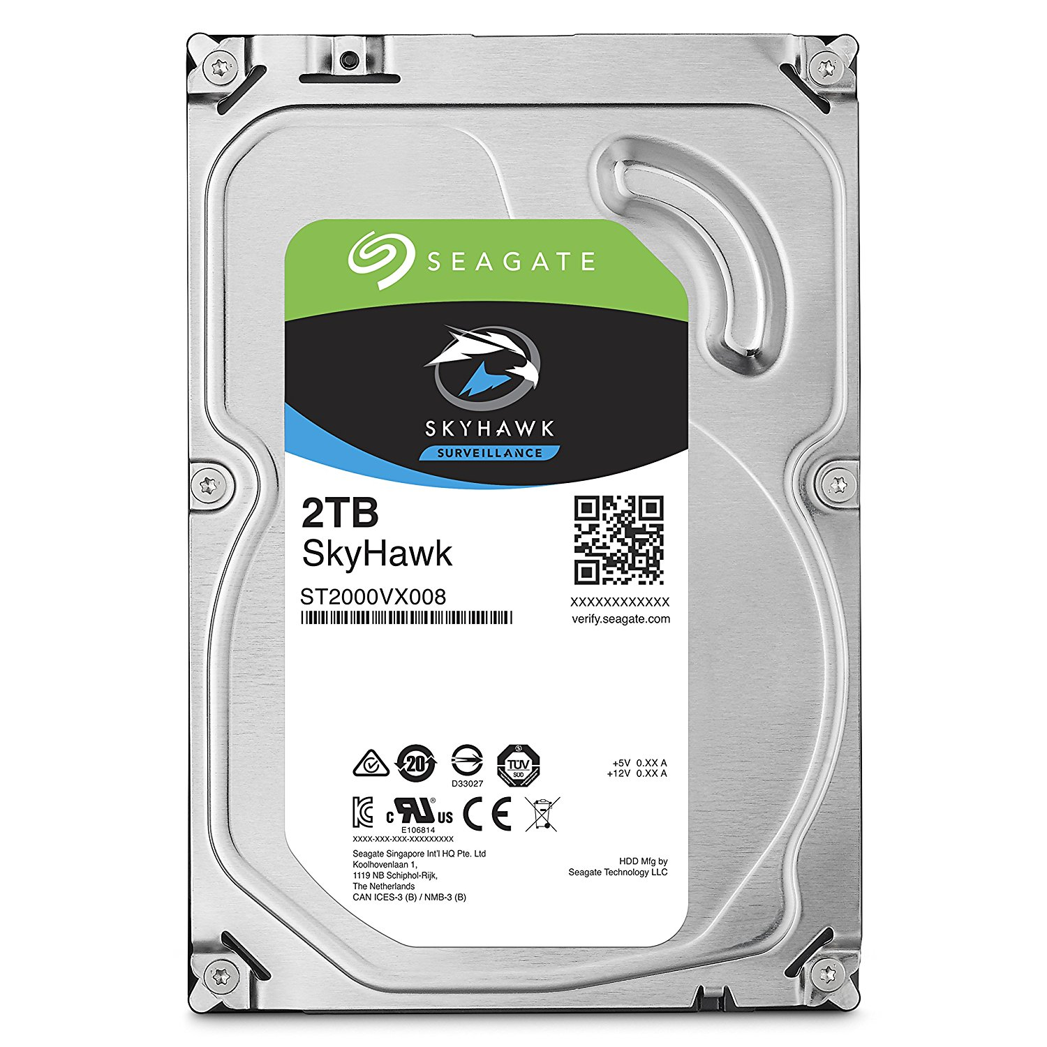 ST2000VX008 SEAGATE 2TB SKYHAWK SATA6GB/S 64MB 5900 RPM ************************* SPECIAL ORDER ITEM NO RETURNS OR SUBJECT TO RESTOCK FEE *************************
