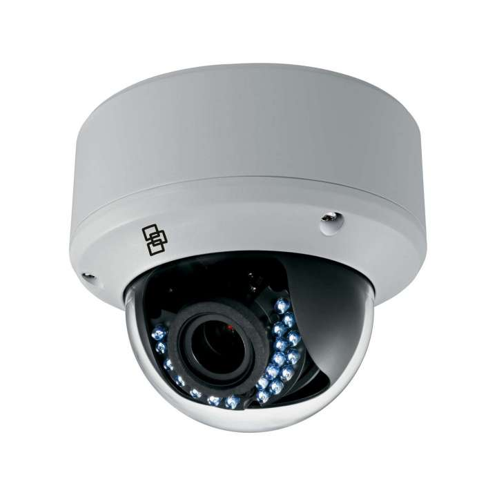 TVD-4402 UTC TruVision HD-TVI Analog Dome Camera, 720p, 2.8~12mm VF Lens, True D/N, DWDR, 40m IR, 960H Monitor or HD-TVI Selectable Output, Coax & Button OSD Control, 12VDC/24VAC, IP66, IK10, NTSC
