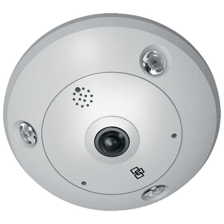 TVF-3104 UTC TruVision 360 Degree IP Dome, 6.0MP, DWDR, 1.27mm fisheye lens, true D/N, 10m IR, 2 way audio (built-in mic & speaker), SD/SHDC slot, POE (803.af)/12VDC, IP66, IK10