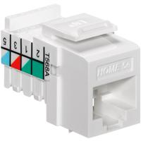 LEV5EHOM-RW5 LEVITON CAT5E HOME WIRING SNAP IN WHITE ************************* SPECIAL ORDER ITEM NO RETURNS OR SUBJECT TO RESTOCK FEE *************************