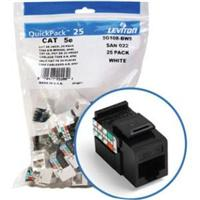 LEV5G108-BE5 LEVITON GIGAMAX CAT5E INSERT- PACK OF 25 -BLACK ************************* SPECIAL ORDER ITEM NO RETURNS OR SUBJECT TO RESTOCK FEE *************************