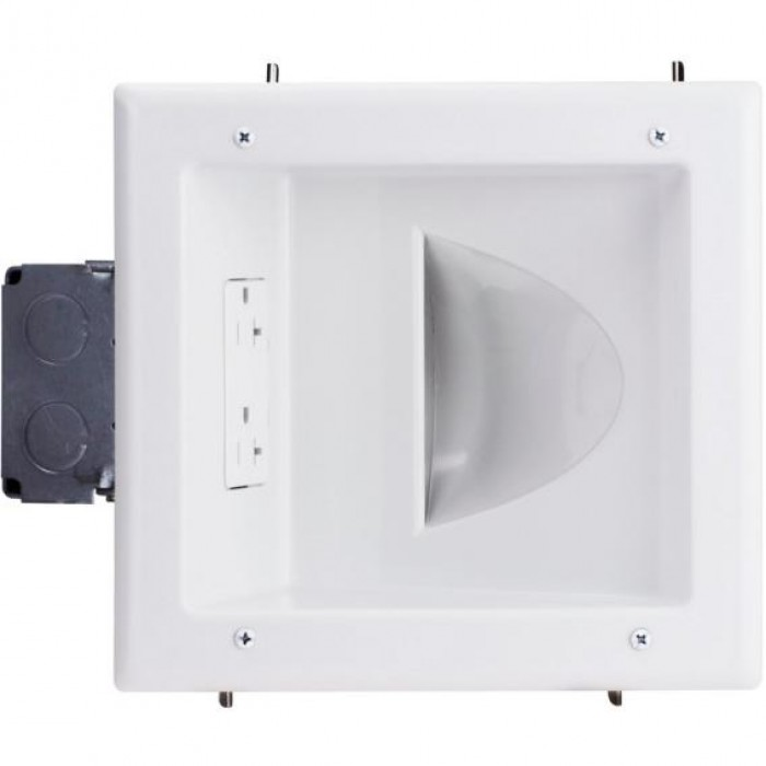45-0032-WH DATACOM WHITE RECESSED PLATE WITH 20 AMP OUTLET ************************* SPECIAL ORDER ITEM NO RETURNS OR SUBJECT TO RESTOCK FEE *************************