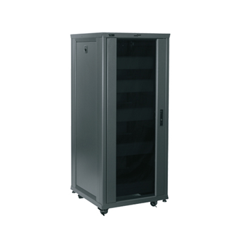"RCS-2724 MIDATL 27 SPACE (47 1/4"") 24"" DEEP RACK CONFIGURED WITH REMOVABLE SIDE, GLASS FRONT DOOR, REAR ACCESS PANEL, SHELVES, PANELS, CASTERS & LEVELING FEET, CHARCOAL FINISH ************************* SPECIAL ORDER ITEM NO RETURNS OR SUBJECT TO RESTOCK FEE *************************"
