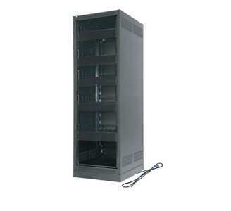 ERK-2125-CONFIG MIDATL 21 SPACE (36-3/4 ), 25 DEEP STAND ALONE RACK CONFIGURED WITH 4 SHELVES, 15 AMP POWER, BLACK FINISH ************************ SPECIAL ORDER ITEM NO RETURNS OR SUBJECT TO RESTOCK FEE *************************