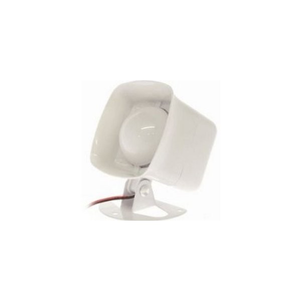 13-950 UTC EXTERIOR PIEZO SIREN LOW-CURRENT EXTERIOR SIREN, 111 DB, 5-14VDC