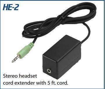 VEC-HE2 VEC STEREO HEADSET EXTENDER W/ 5' CORD