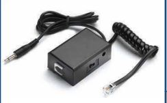 VEC-TRX-50 VEC AC POWERED Telephone record coupler with 6 ft. cord and 3.5 mm plug. Provides audible BEEP to both parties.