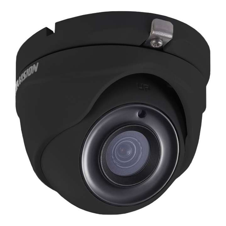 DS-2CE56H1T-ITMB3.6MM Hikvision Outdoor IR Turret TurboHD 4.0 HD-TVI 5MP 3.6mm 20m EXIR 2.0 Day/Night True WDR Smart IR IP66 12 VDC Black Finish