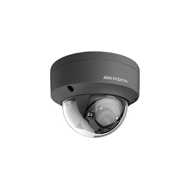 DS-2CE56H1T-VPITB6MM Hikvision Outdoor IR Dome TurboHD 4.0 HD-TVI 5MP 6mm 20m EXIR 2.0 Day/Night True WDR Smart IR IP67 12 VDC Black Finish