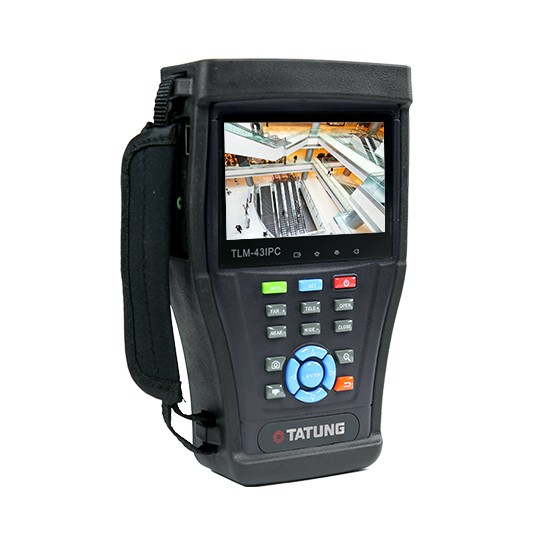 "TLM-43IPC TATUNG 4.3"" All-In-One IP/HD Analog Hand Held Test Monitor. Touch Screen, Built In Wi-Fi, detects IP address,supports ONVIF and PTZ, Video and Snapshot Functions recorded to SD card. Cable Test Function. Built-In Lithium Battery,5 Hr Continuous Operating Time, Built-In Kick Stand, Carrying Bag included, brightness 400 nits, Viewing Angle: 50/50/35/45,Aspect Ratio 5:3 Contrast Ratio 200:1, Response Time: 15ms, Power Consumption 3.6W, Netweight 1:81 lbs. Supports CVI, TVI, SDI, AHD, CVBS ************************* SPECIAL ORDER ITEM NO RETURNS OR SUBJECT TO RESTOCK FEE *************************"