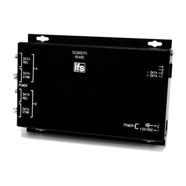 D2300CPS UTC RS485: (2 Wire) Data Repeater, MM, 2 Fibers ************************* SPECIAL ORDER ITEM NO RETURNS OR SUBJECT TO RESTOCK FEE *************************