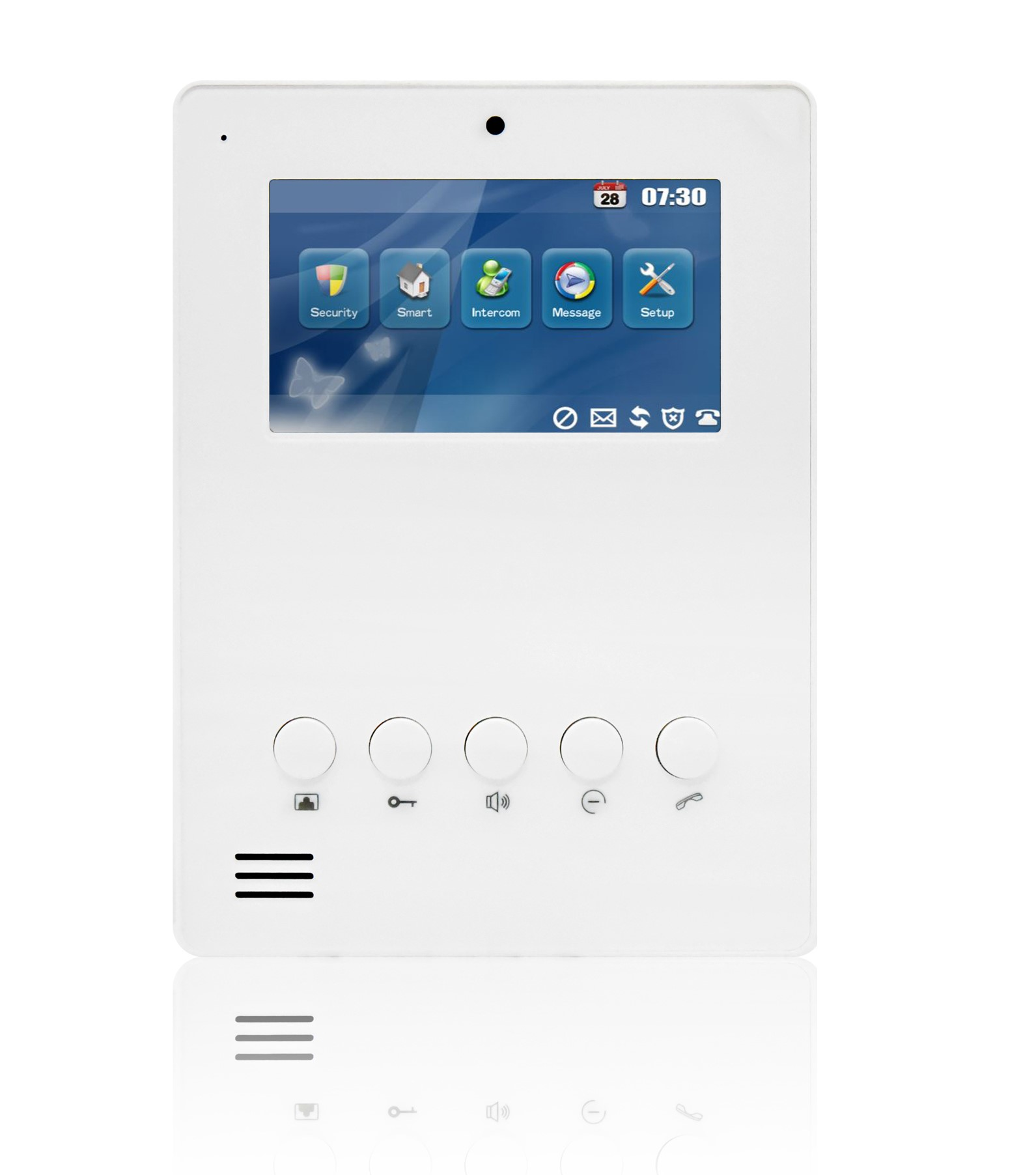 "ST-3048W CHANNELVISION 4.3"" IP Touch Screen Room Station for use with Channel Vision IP intercom systems (White Finish) ************************* SPECIAL ORDER ITEM NO RETURNS OR SUBJECT TO RESTOCK FEE *************************"