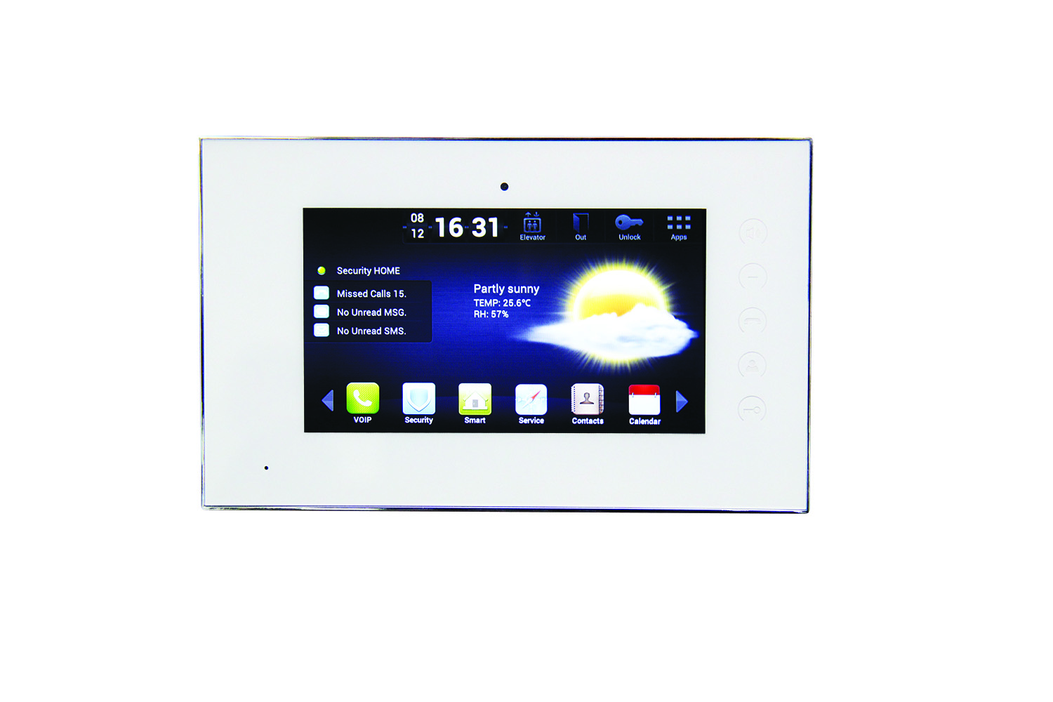 "ST-3078W CHANNELVISION 7"" IP Touch Screen Room Station for use with Channel Vision IP intercom systems (White Finish) ************************* SPECIAL ORDER ITEM NO RETURNS OR SUBJECT TO RESTOCK FEE *************************"