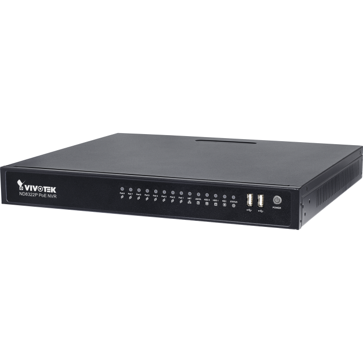 ND8322P VIVOTEK 8 CHANNEL NVR 8 PORT POE NO HDD ************************* SPECIAL ORDER ITEM NO RETURNS OR SUBJECT TO RESTOCK FEE *************************