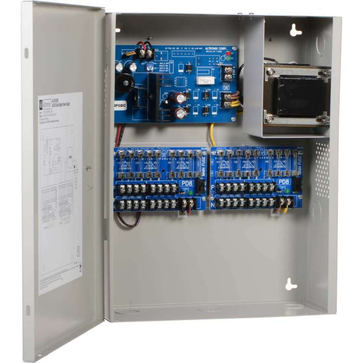 ALTV1224C ALTRONIX 16 OUTPUT AC/DC DUAL OUTPUT POWER SUPPLY - 8 12VDC AND 8 24VAC OUTPUTS - 7 AMPS TOTAL