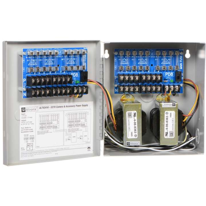ALTV2416 ALTRONIX 24VAC VIDEO POWER SUPPLY 8 AMP 16 OUTLET