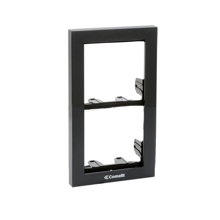 3311/2A CYREX MODULE-HOLDER FRAME COMPLETE WITH CORNICE FOR 2 MODULE- SILVER BLACK. IKALL AND POWERCOM SERIES ************************* SPECIAL ORDER ITEM NO RETURNS OR SUBJECT TO RESTOCK FEE *************************