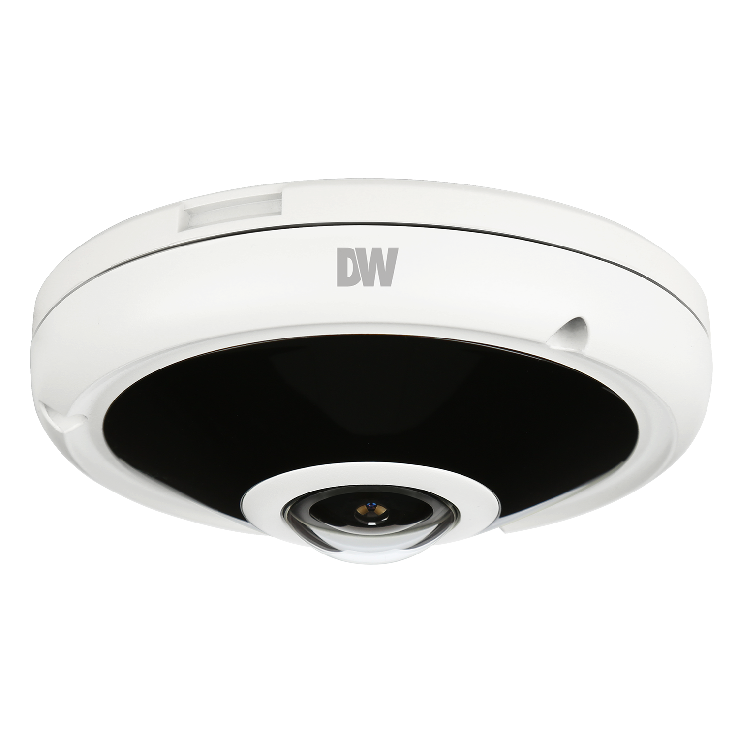 DWC-PVF5M1TIRC1 DIGITAL WATCHDOG MEGApix PANO 5MP 360-degree Hemispheric Fisheye Vandal Dome, 360 and 180-degree Panoramic view with Edge to Edge Clarity, 1/1.8 Image Sensor, 30fps @ 2592x1944, 1.55mm fixed lens, Multi Codecs (H.265, H.264, MJPEG) with Simultaneous Dual Streams, 55ft Smart IR, True Day/Night with Mechanical IR Cut Filter, Smart DNR 3D Digital Noise Reduction, Auto Gain Control (AGC), Auto White Balance (AWB), Motion Detection, Micro SD/SDHC Class 10 Card Slot (card not included), Web Server Bullet In, Onvif Profile S, POE and DC12V, 5 Year Warranty. Note: DW Spectrum IPVMS pre loaded. Connect up to 12 CaaS cameras simultaneously in a single system. Built in 128GB memory for local recording. Dual recording option with Blackjack NAS. ************************* SPECIAL ORDER ITEM NO RETURNS OR SUBJECT TO RESTOCK FEE *************************