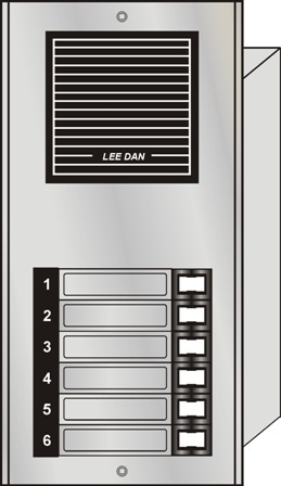ES-006S LEEDAN 6 BUTTON SURFACE MOUNT PANEL ************************* SPECIAL ORDER ITEM NO RETURNS OR SUBJECT TO RESTOCK FEE *************************