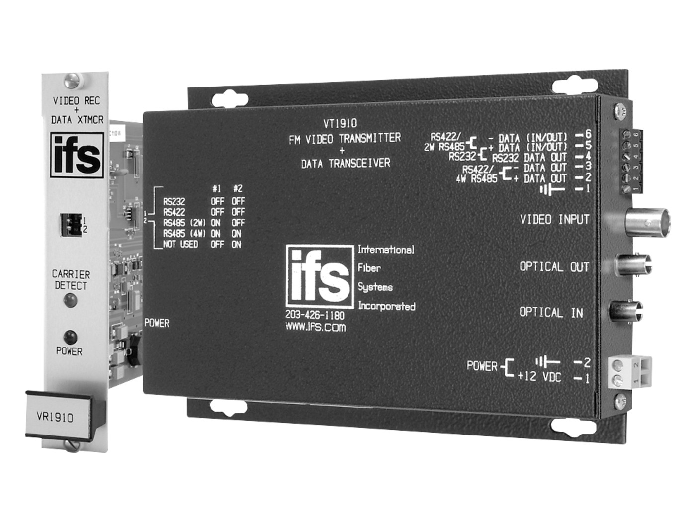 VR1930WDM IFS SINGLE MODE FIBER OPTIC RECEIVER FOR DATA AND VIDEO - RS422 FOR SENSORMATIC ************************* SPECIAL ORDER ITEM NO RETURNS OR SUBJECT TO RESTOCK FEE *************************