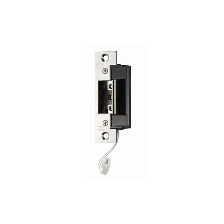 "AES-200 ALARM CONTROLS field selectable fail secure/fail safe operation. Deep latch cavity accommodates cylindrical locksets with a 5/8"" to 3/4"" throw in steel, wood or aluminum frames,Voltage 12 thru 24 VAC or VDC, continuous duty operation on DC"