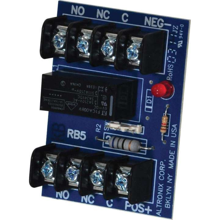"RB5 ALTRONIX 6/12 VDC RELAY DPDT 2 FORM ""C"" 5 AMP CONTACTS"