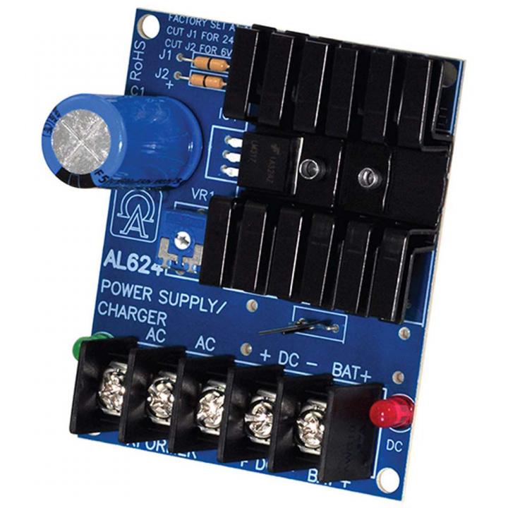 AL624 ALTRONIX POWER SUPPLY (BOARD ONLY) 6/12VDC @ 1.2 AMP, 24VDC AT 750MA