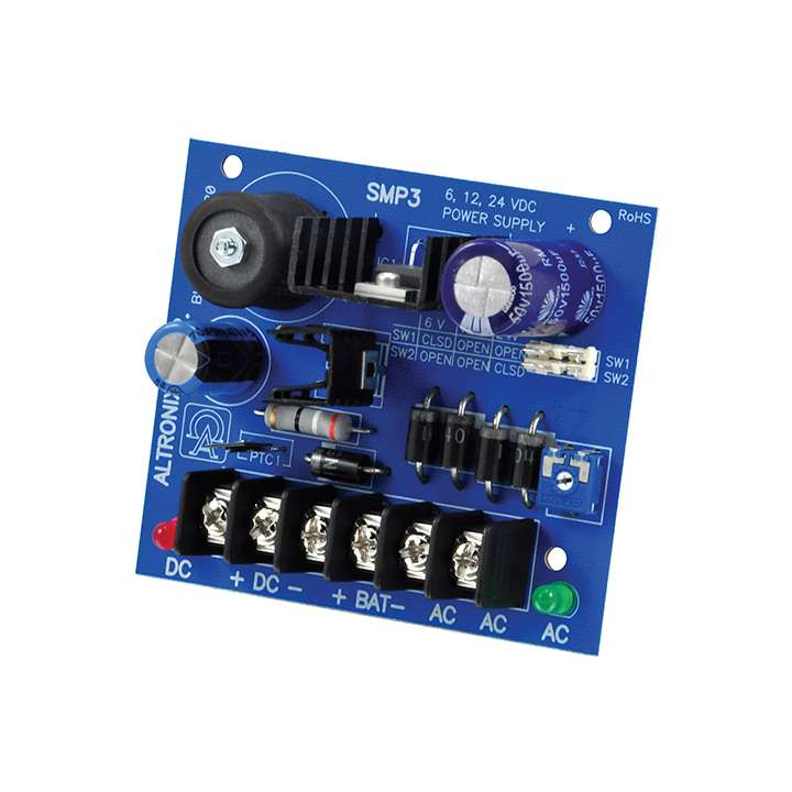 SMP3 ALTRONIX HIGH CURRENT POWER SUPPLY 6/12/18/24VDC AT 2.5 AMP (BOARD ONLY)