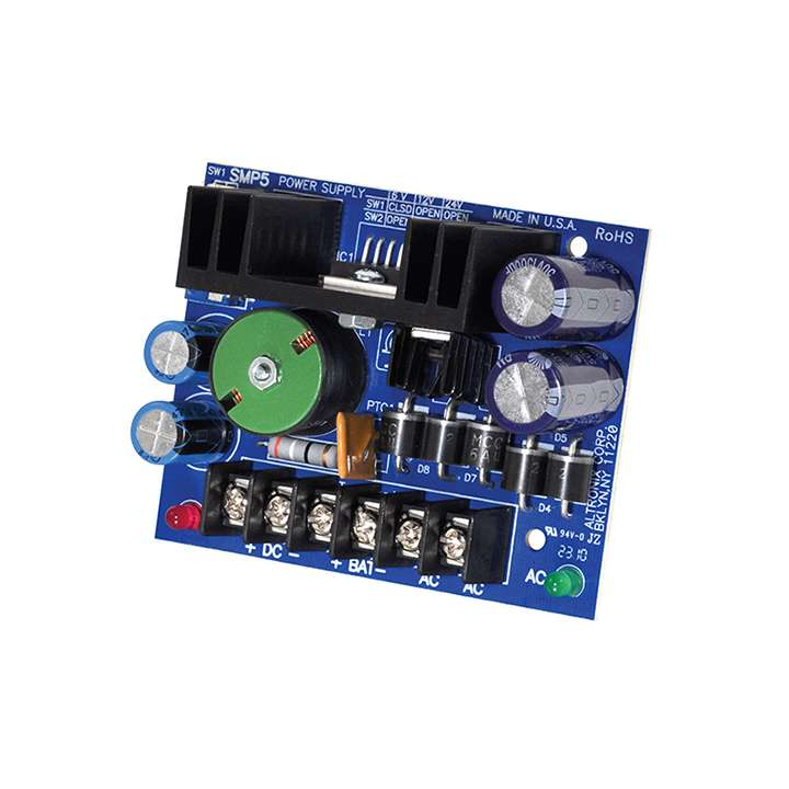 SMP5 ALTRONIX HIGH CURRENT POWER SUPPLY 6/12/18/24VDC AT 4 AMP (BOARD ONLY)