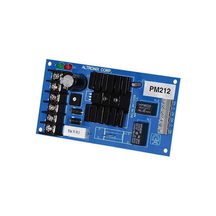 PM212 ALTRONIX SUPERVISED POWER SUPPLY 12VDC AT 1 AMP (BOARD ONLY)
