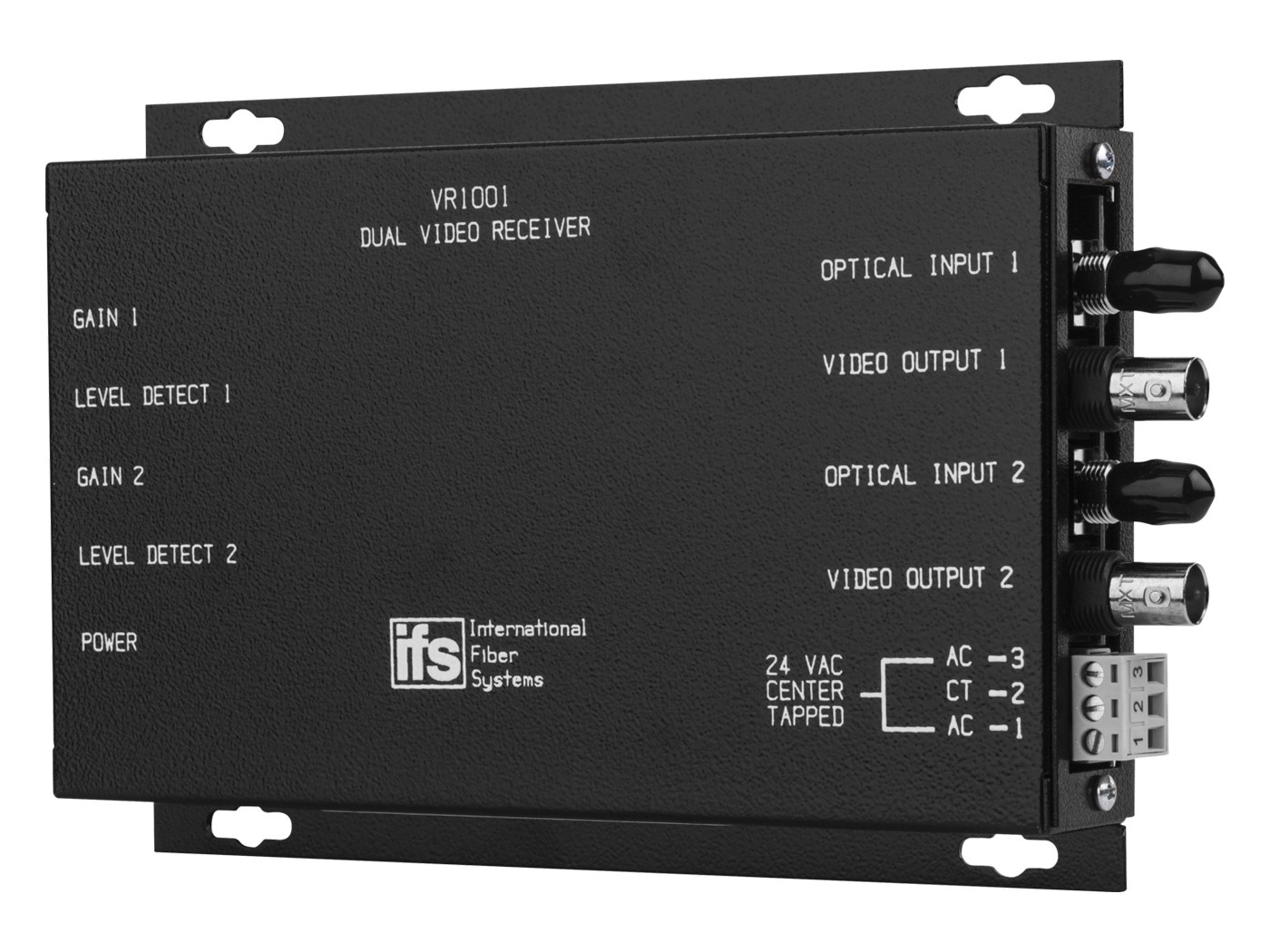 VR1001 IFS DUAL INDEPENTENT VIDEO RECEIVERS WITH MANUAL GAIN ************************* SPECIAL ORDER ITEM NO RETURNS OR SUBJECT TO RESTOCK FEE *************************