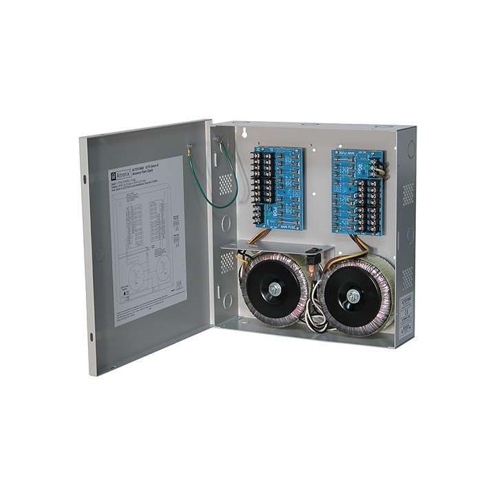 """ALTV2416600 ALTRONIX SIXTEEN (16) FUSE PROTECTED OUTPUTS 24VAC @ 28 AMP (675VA) OR 28VAC @ 25 AMP (700VA) 115VAC INPUT GREY ENCLOSURE 13.5""""H X 13""""W X 3.25""""D"""
