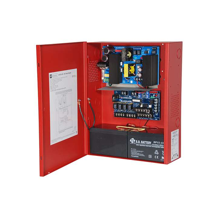 AL802ULADA ALTRONIX ADA FIRE ALARM POWER SUPPLY IN RED ENCLOSURE 2 INPUTS, 4 OUTPUTS 24VDC @ 8 AMP SELECTABLE STROBE SYNCHRONIZATION (FOR TWO WIRE HORN/STROBE) ************************* SPECIAL ORDER ITEM NO RETURNS OR SUBJECT TO RESTOCK FEE *************************